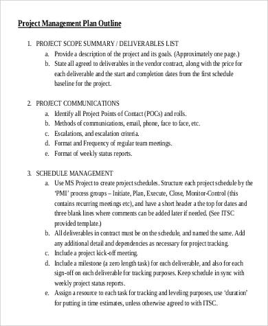 Project Plan Sample - 9+ Examples in Word, PDF