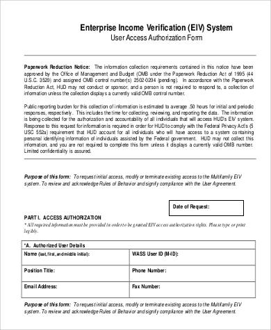 enterprise income verification form