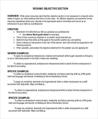 Standard Resume Objective Sample Phd Resume For Industry Sample