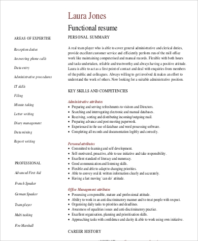 9 functional resume examples amp templates
