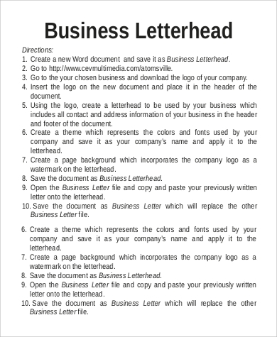 how to create professional letterhead