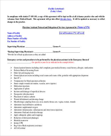 professional facility letterhead