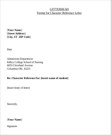 professional letterhead format