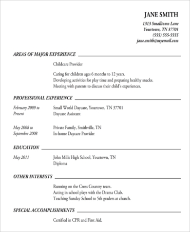 High School Student Resume Samples | Youth Central