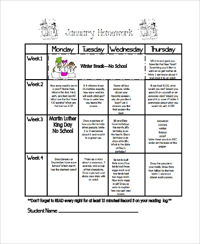 Homework Calendars Printable Planners Calendars Calloway House Here