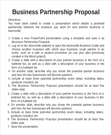 Business proposal sample 9 examples in word pdf business partnership proposal sample accmission