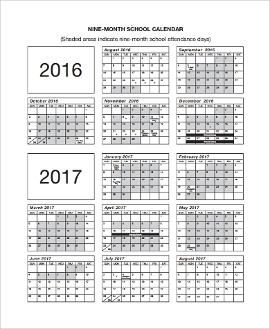 free printable monthly school calendar1