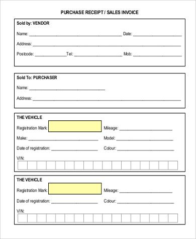 sales receipt invoice