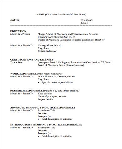 printable school curriculum vitae format
