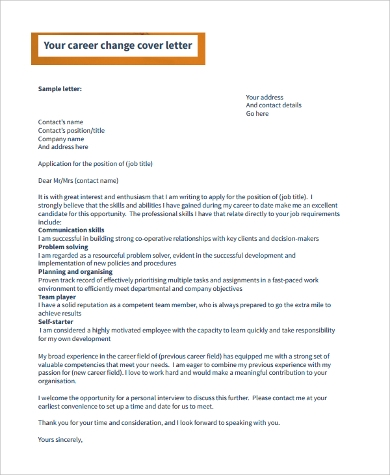 cover letter example 9 samples in word pdf
