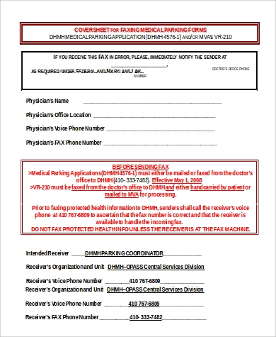 Sample Fax Cover Sheet Microsoft Word - 9+ Examples In Word
