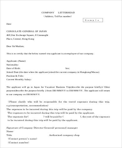 company business letterhead example