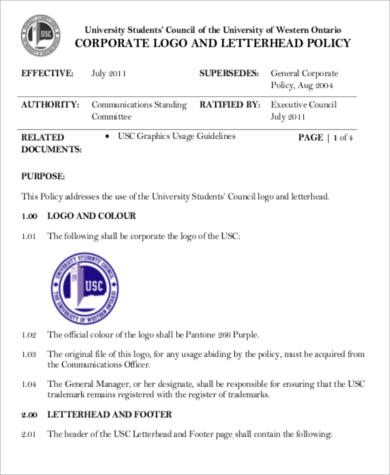 corporate business letterhead pdf