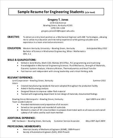 General Engineer Resume  CityEsporaCo