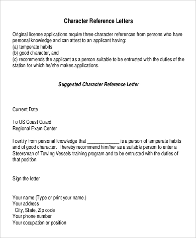 Sample Of Personal Reference Letter   Examples In Word Pdf