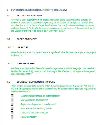 functional business requirement document1