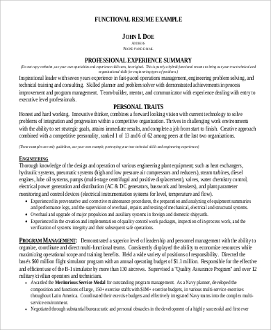 Resume Summary Statement For Engineers In PDF  Example Resume Summary Statement