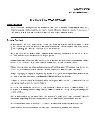 it project program manager job description