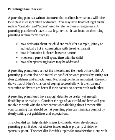 parallel parenting essay Parenting plan, either parent may make emergency decisions affecting the health or safety of the child(ren) when the child is residing with that parent.