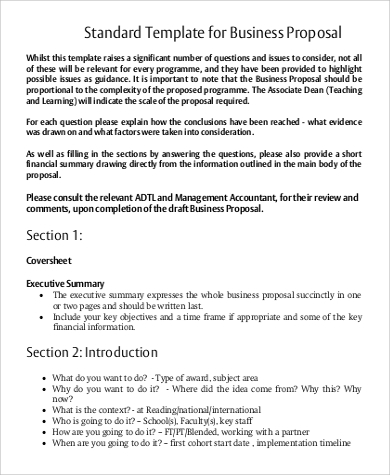 Business Proposal Example - 9+ Samples In Word, Pdf