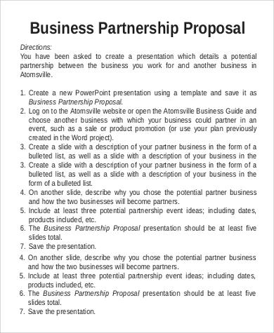 partnership business proposal
