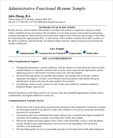 functional administrative resume1