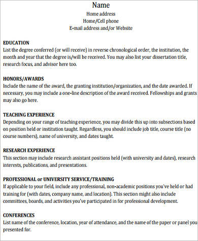 college academic resume1