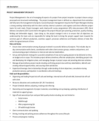 program management director job description