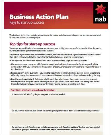 startup business action plan