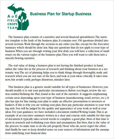startup magazine business plan
