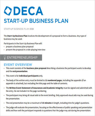 9 sample startup business plans sample templates for Start up business plans free templates