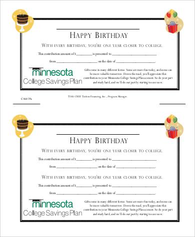 birthday gift certificate printable