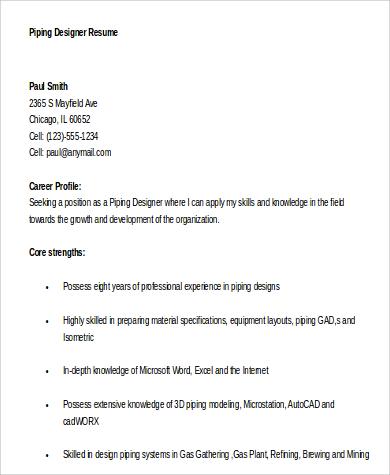 Designer Resume Sample 6 Examples in Word PDF