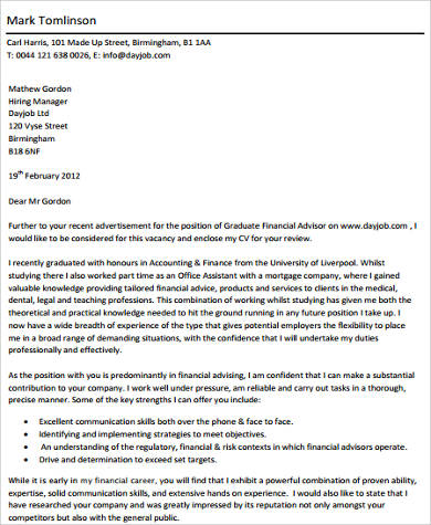 accounting graduate cover letter