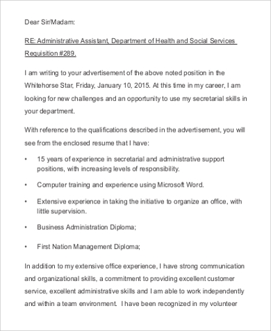 email resume cover letter sample