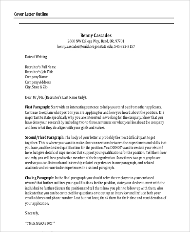 Email Cover Letter Sample  9