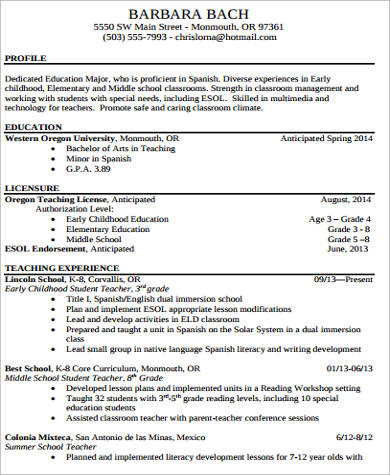 Middle School Science Teacher Resume Template Examples Math Samples  Elementary Sample .  Elementary Teacher Resume Examples