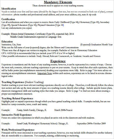 Sample Elementary Teacher Resume 10 Examples In Word Pdf