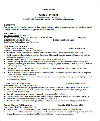 experienced teacher assistant resume