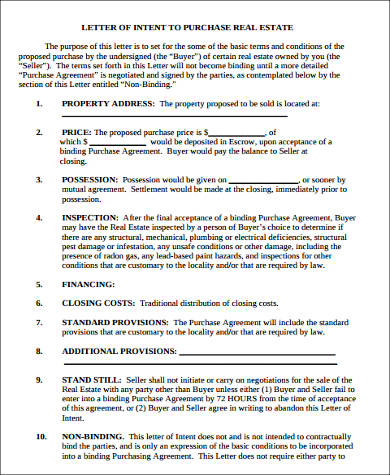 8 letter of intent samples pdf doc sample templates real estate letter of intent in pdf thecheapjerseys Images