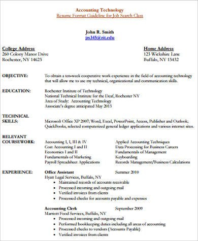 technical skills for accounting resume