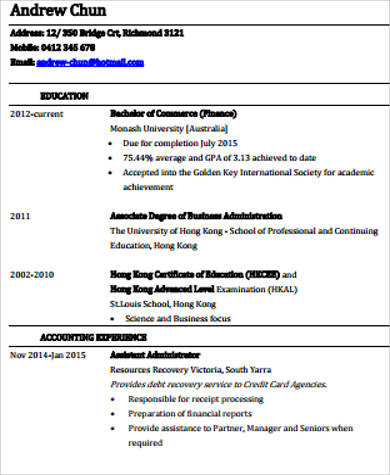 technical skills resume finance