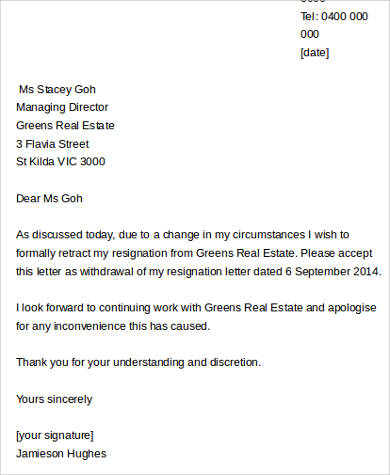 Sample Job Resignation Letter   Examples In Word Pdf