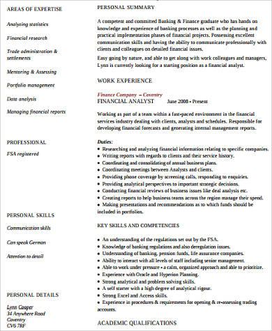 Financial Assistant Resume  Financial Assistant Resume