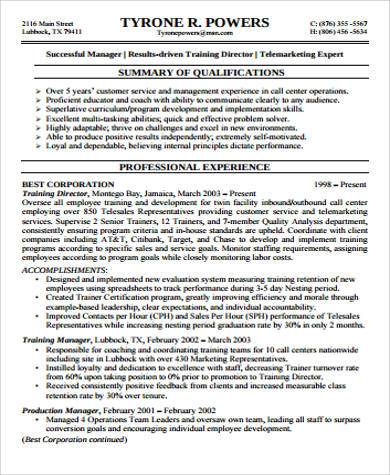 Supervisor Resume Sample 9 Examples in Word PDF