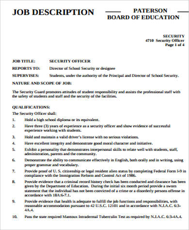 Sample Security Resume 9 Examples In Word Pdf