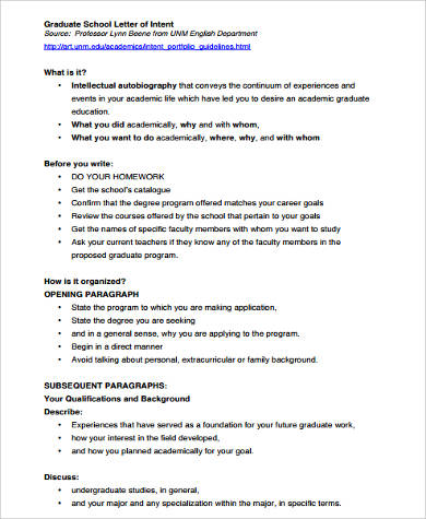 graduate letter of intent format