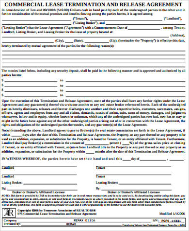lease termination and release agreement
