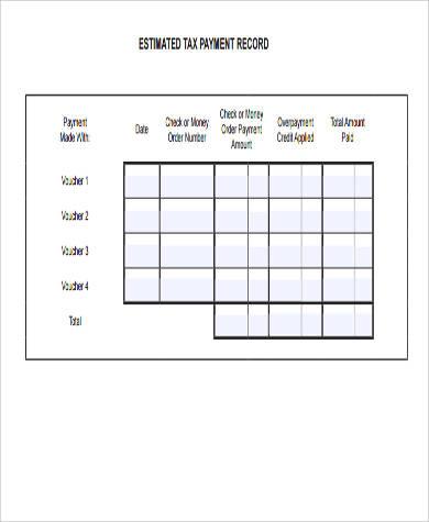estimated tax deposit form