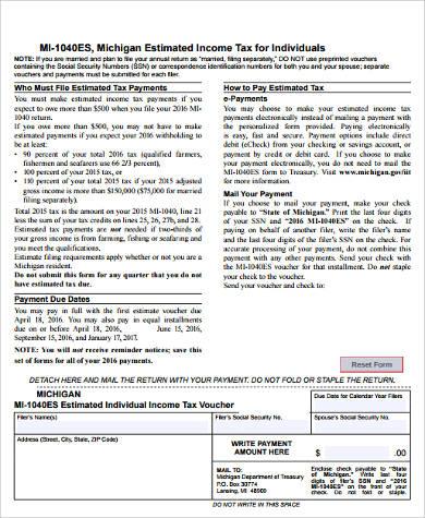 estimated tax voucher form